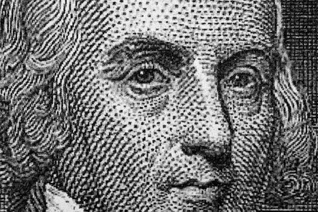 James Madison from old U.S. currency.