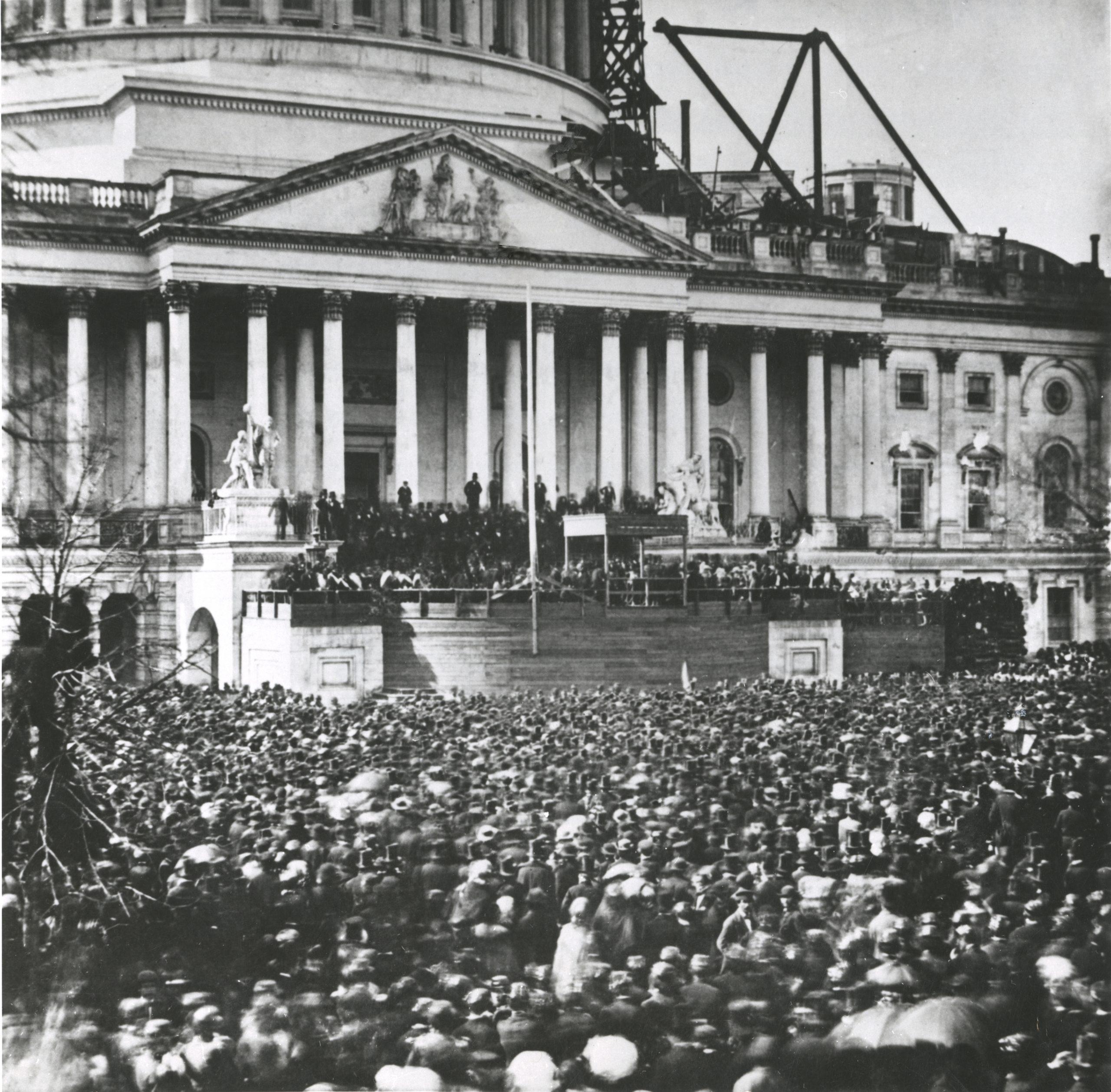 Abraham Lincoln elected President of the United States of America. Washington, 4th March 1861. (Photo by Mondadori Portfolio via Getty Images)