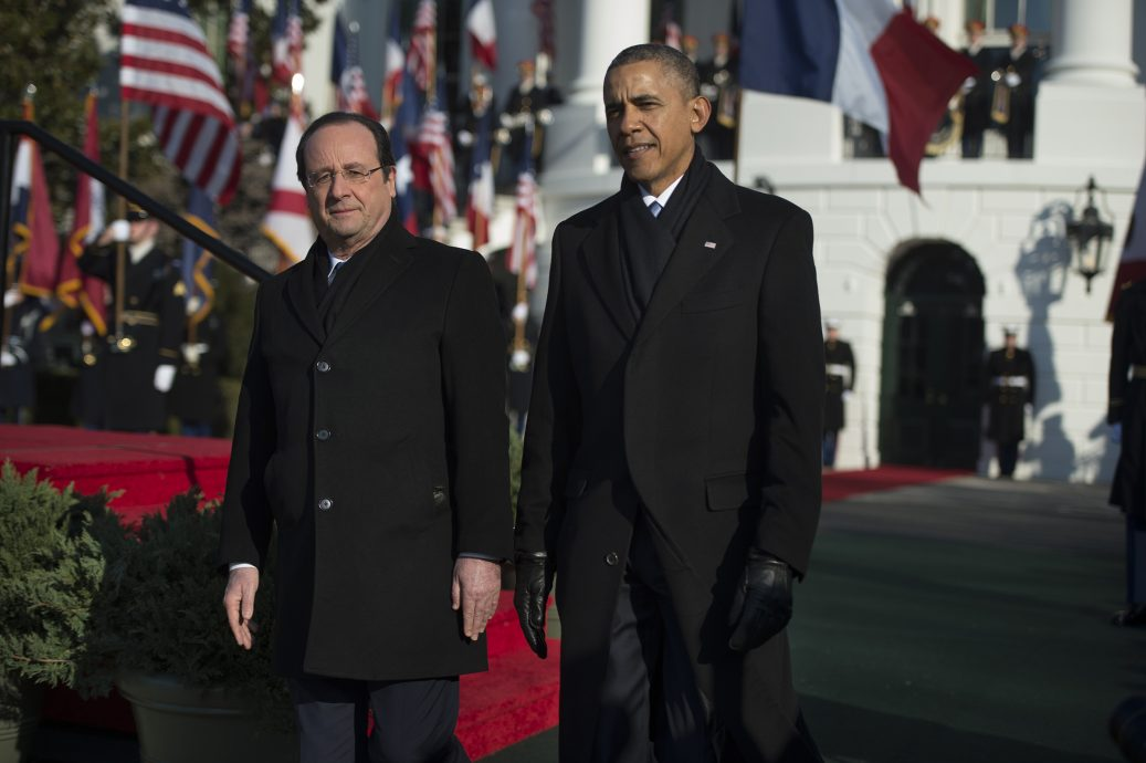 President Francois Hollande of France arrives for a State visit in Washington, DC