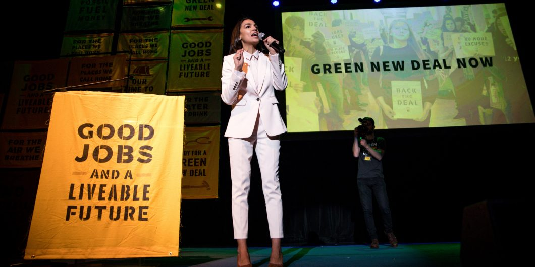 AOC at Green New Deal Rally