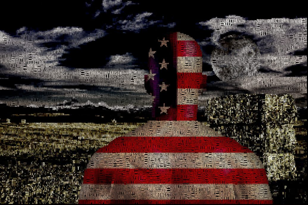 Freedom   Composed entirely of words, text applicable to image