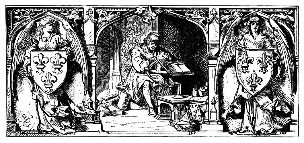 Lettered Man Writing – 15th-16th century