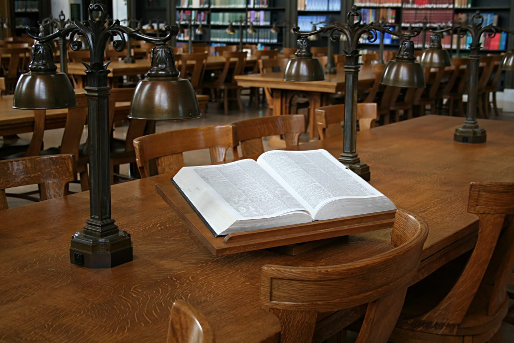 dictionary in library
