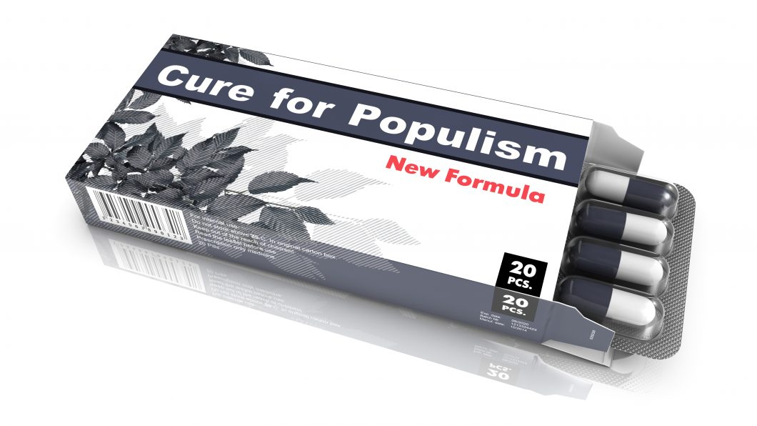 Cure for Populism – Blister Pack Tablets.