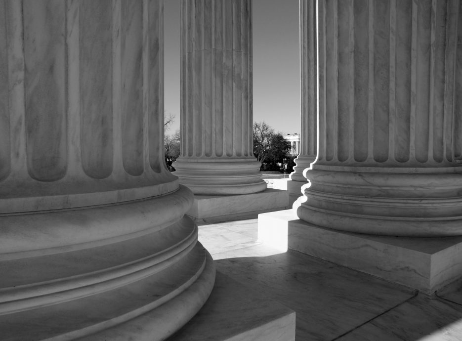 Supreme Court Columns Black and White