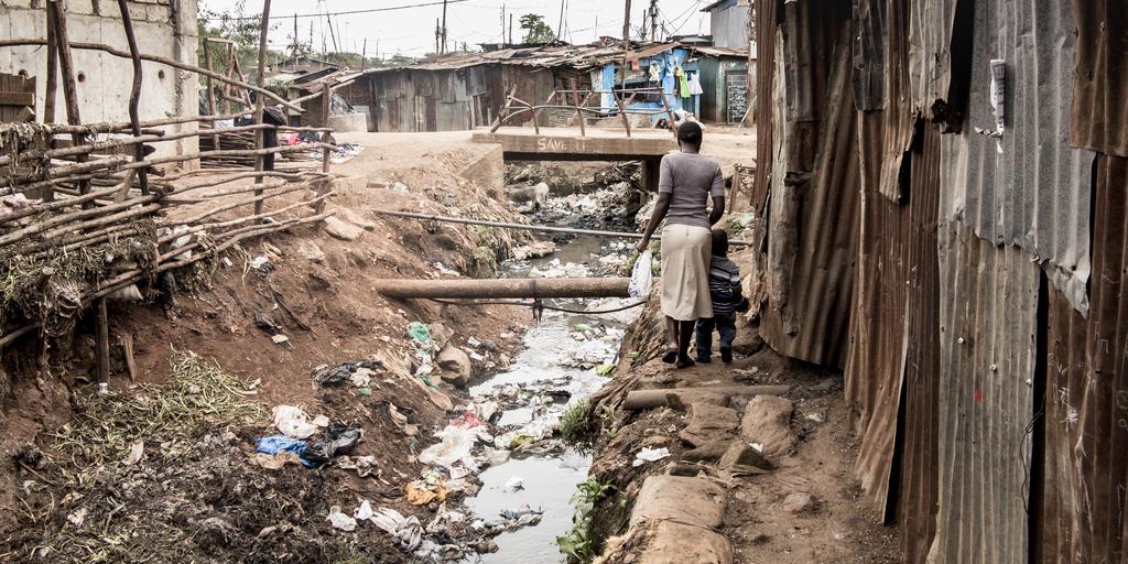 African slum
