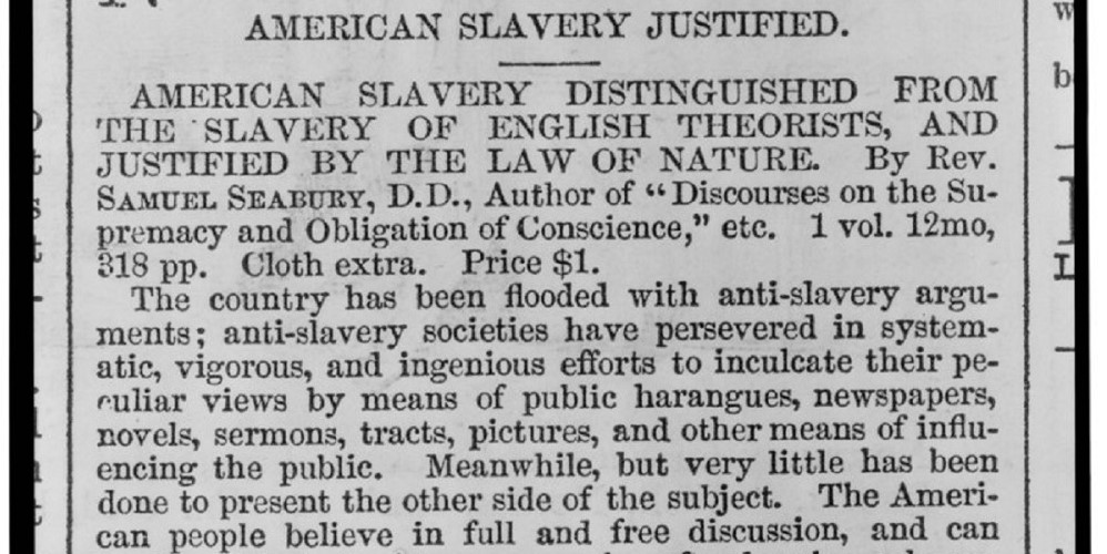 American Slavery Justified
