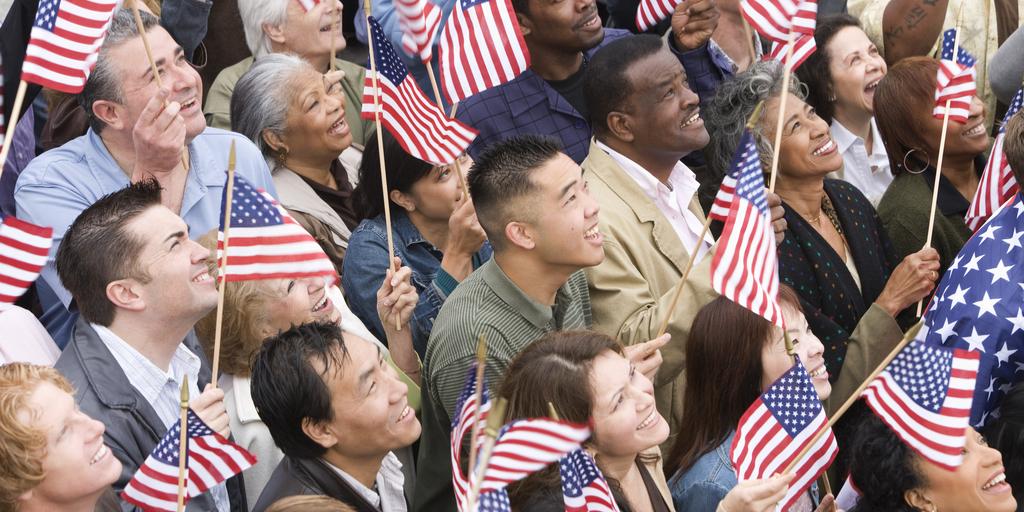 Americans at Rally