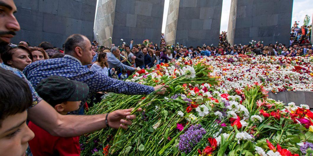 Armenian mourners