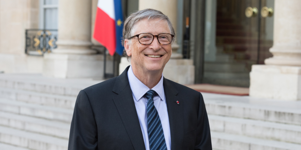 Bill Gates at Elysee Palace