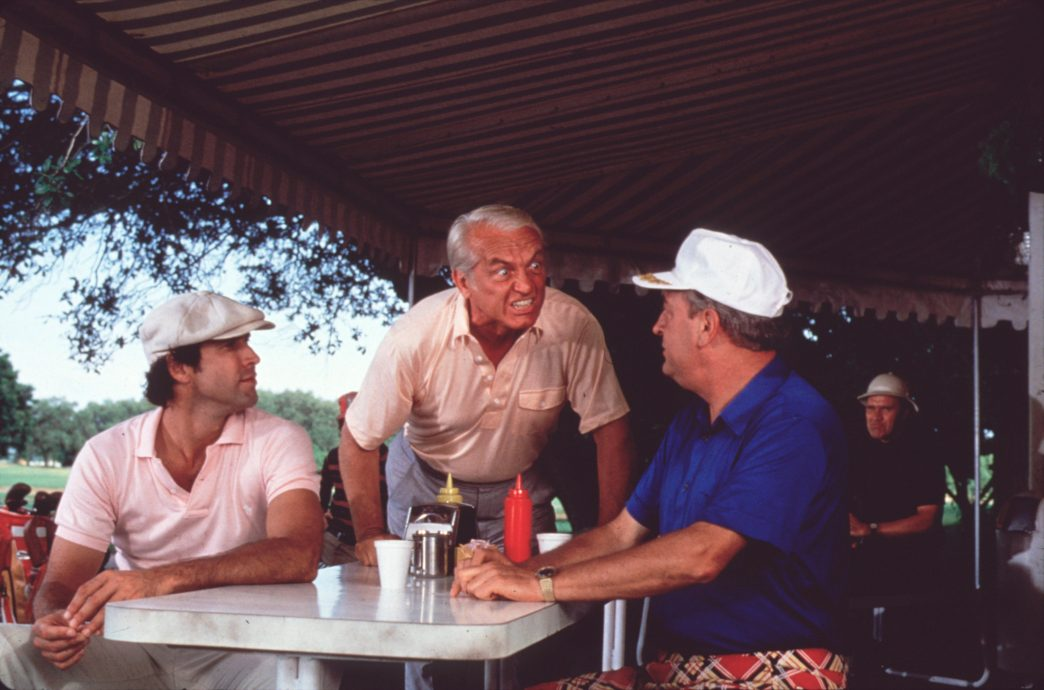 "Studio Publicity Still from ""CaddyShack"" Chevy Chase, Ted Knight, Rodney Dangerfield © 1980 Orion  All Rights Reserved   File Reference # 31715290THA  For Editorial Use Only"
