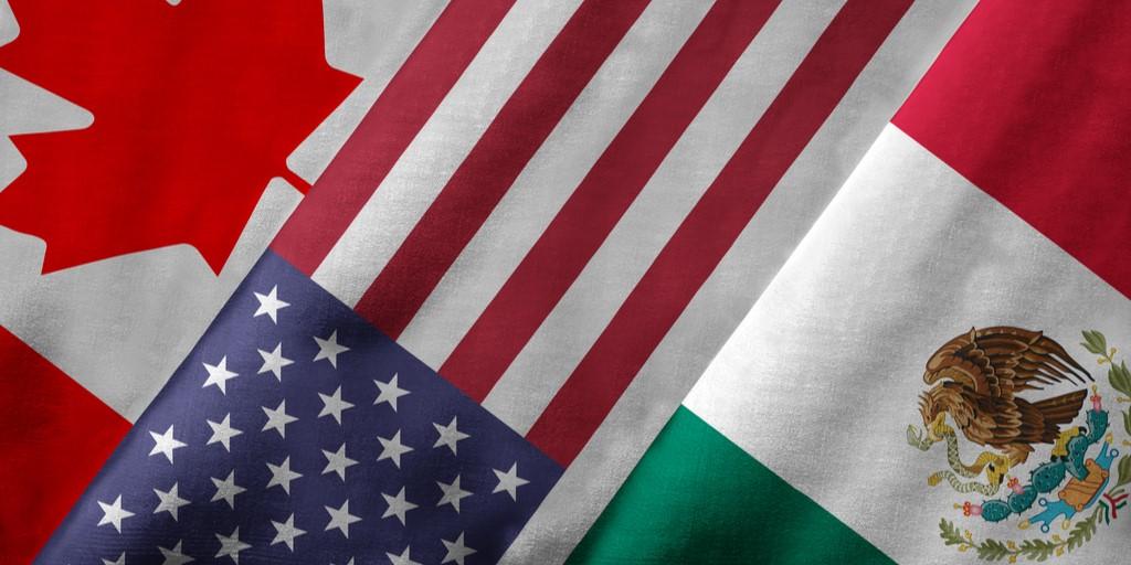 Canada United States Mexico flags NAFTA