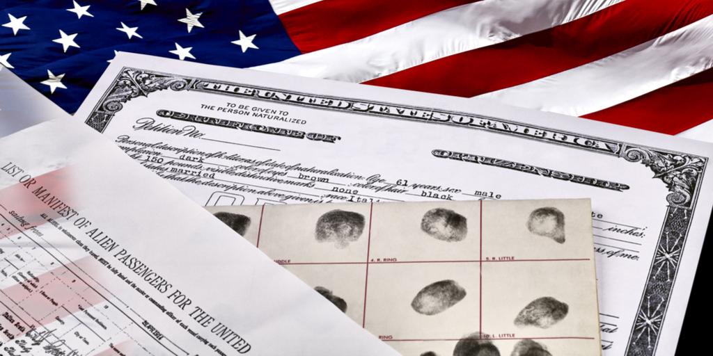 Citizenship Docs and Flag