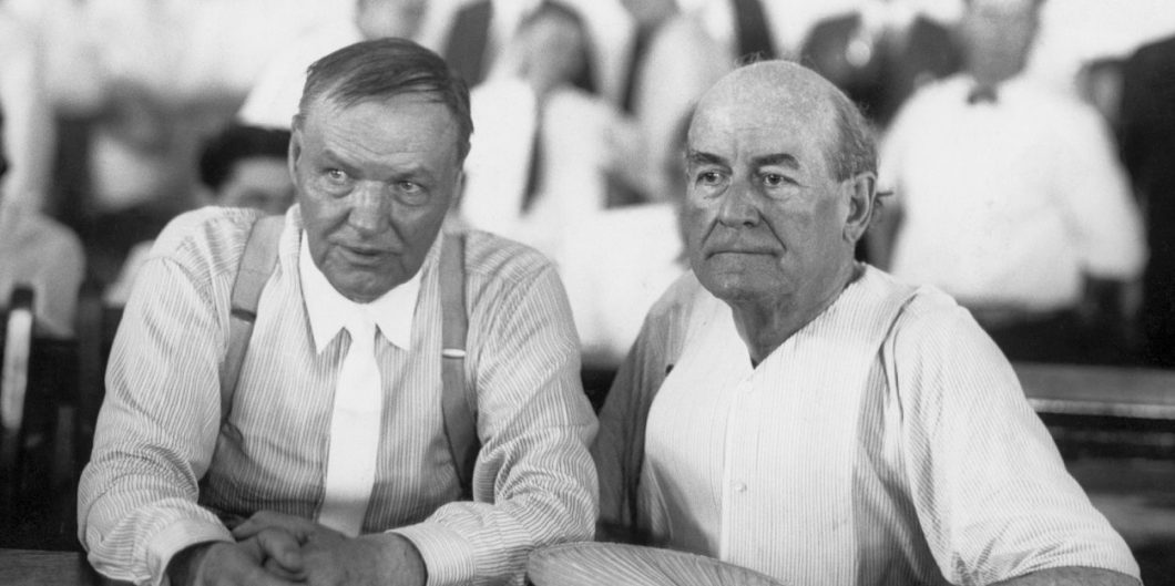 Clarence Darrow with William Jennings Bryan