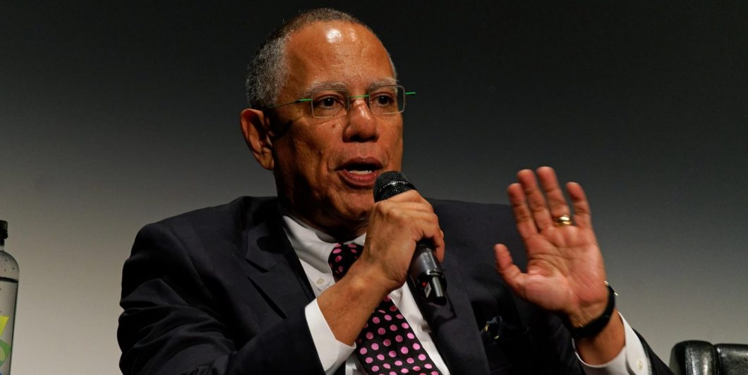 New York, USA, 28 April 2018. Executive Editor of The New York Times, Dean Baquet, speaking during a panel after the screening of ?The Fourth Estate? at the 2018 Tribeca Film Festival. The film is about how The New York Times covered the first 100 days of