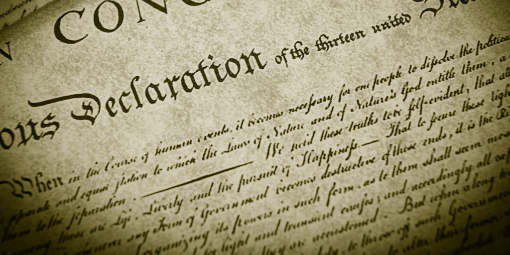 Declaration close-up