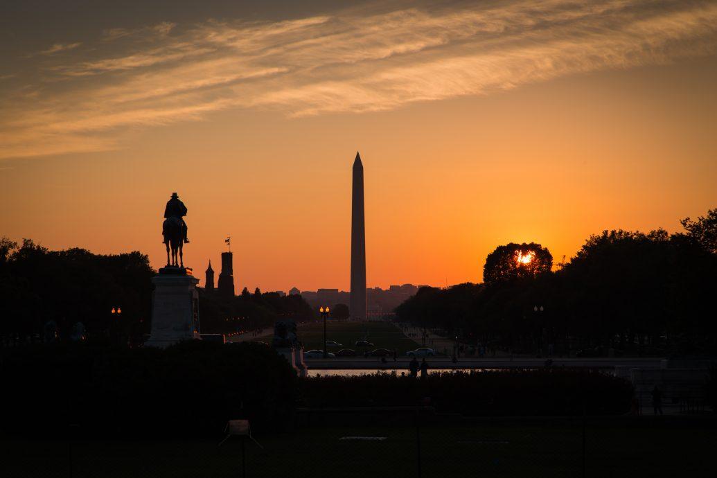 National mall sunset, Washington DC