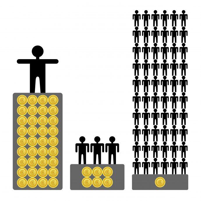 Reichtum versus Armut, internationaler Vergleich, abstrakt