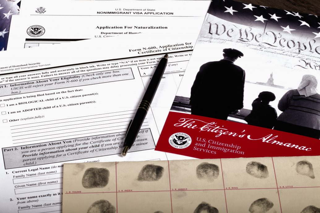 USA Citizenship Application Documents