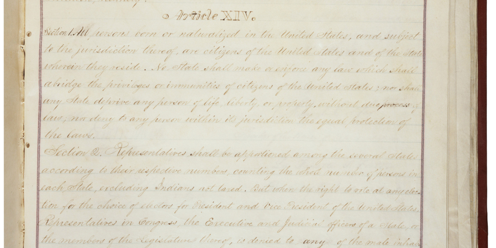 Draft Copy of the 14th Amendment