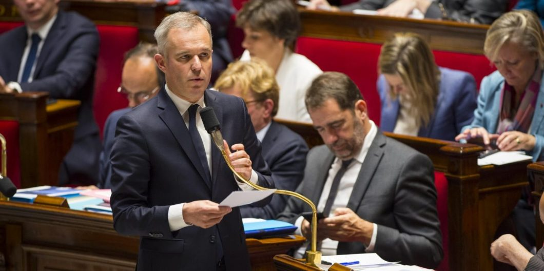 Paris, Ile de France, France. 14th Nov, 2018. Secretary of the ecological transition Francois De Rugy seen speaking during a session of questions to the government at the National Assembly. Credit: Thierry Le Fouille/SOPA Images/ZUMA Wire/Alamy Live News