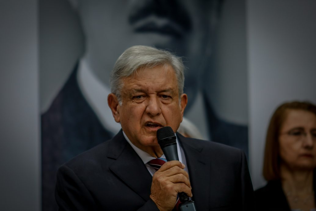 President Elect Lopez Obrador Holds Press Conference With Future Economy Minister Graciela Marquez Colin