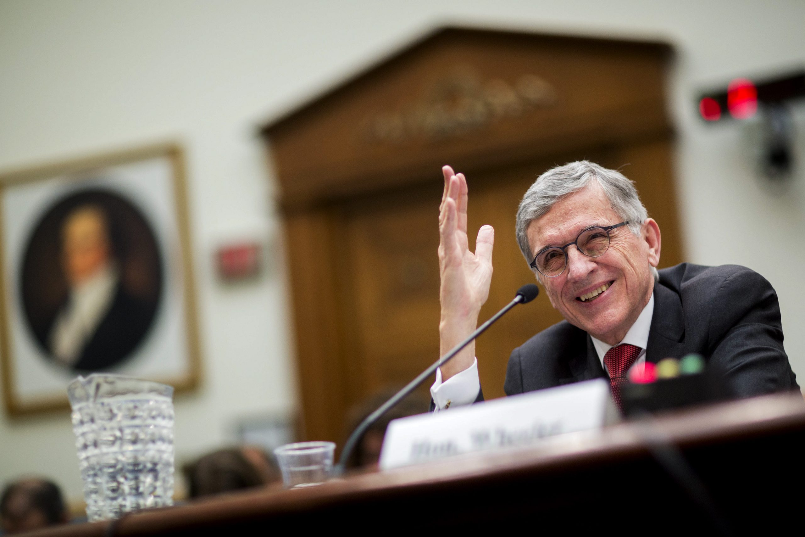 Tom Wheeler, chairman of the Federal Communications Commission. Photographer: Andrew Harrer/Bloomberg via Getty Images