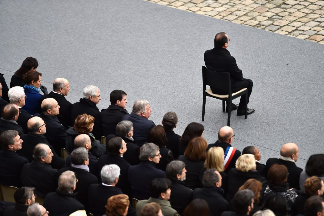 National Tribute to The Victims of The Paris Terrorist Attacks At Les Invalides In Paris