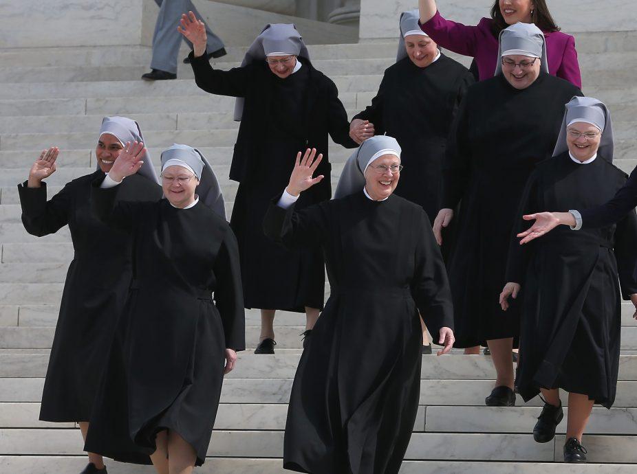 Activists Rally Outside Supreme Court Hearing On Religious Non-Profits Abiding To ACA