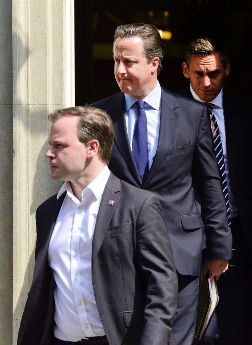 David Cameron Leaves Downing Street In London