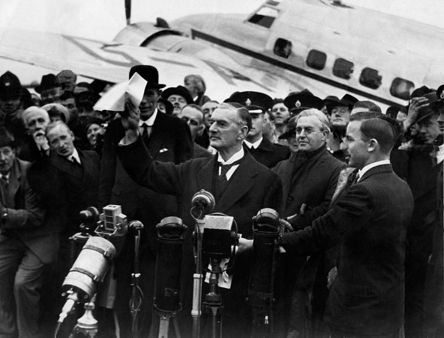 Peace In Our Time Neville Chamberlain 1938