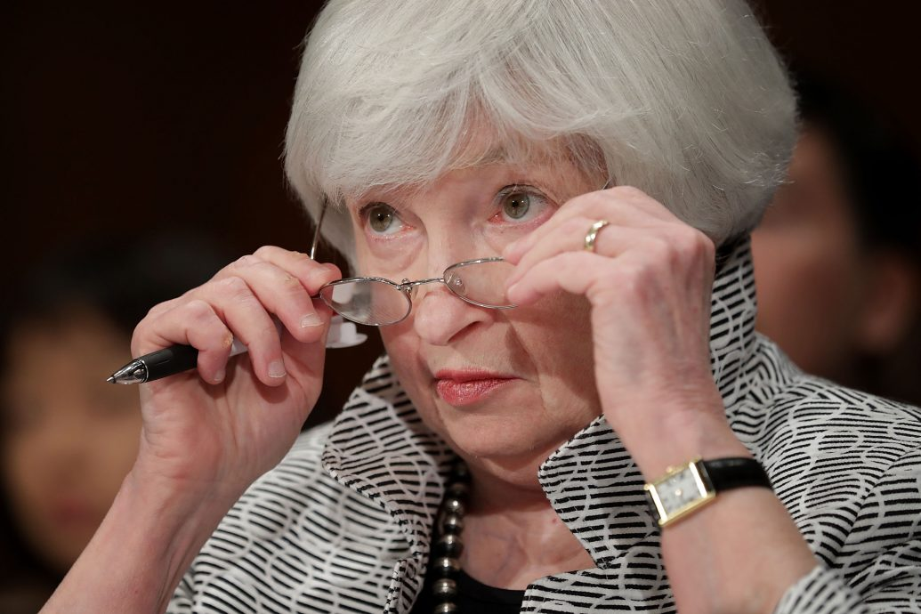 Fed Chair Janet Yellen Testifies At Senate Hearing On Semiannual Monetary Policy Report To Congress