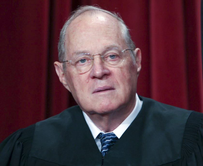 U.S. Supreme Court Justice Anthony Kennedy poses during the