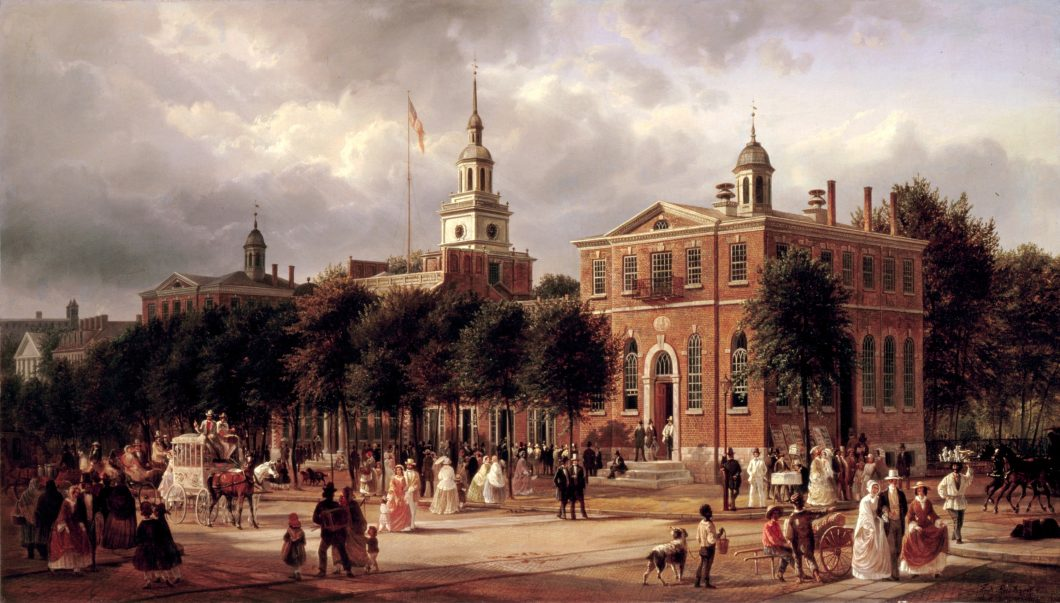 Independence_Hall_in_Philadelphia_by_Ferdinand_Richardt,_1858-63