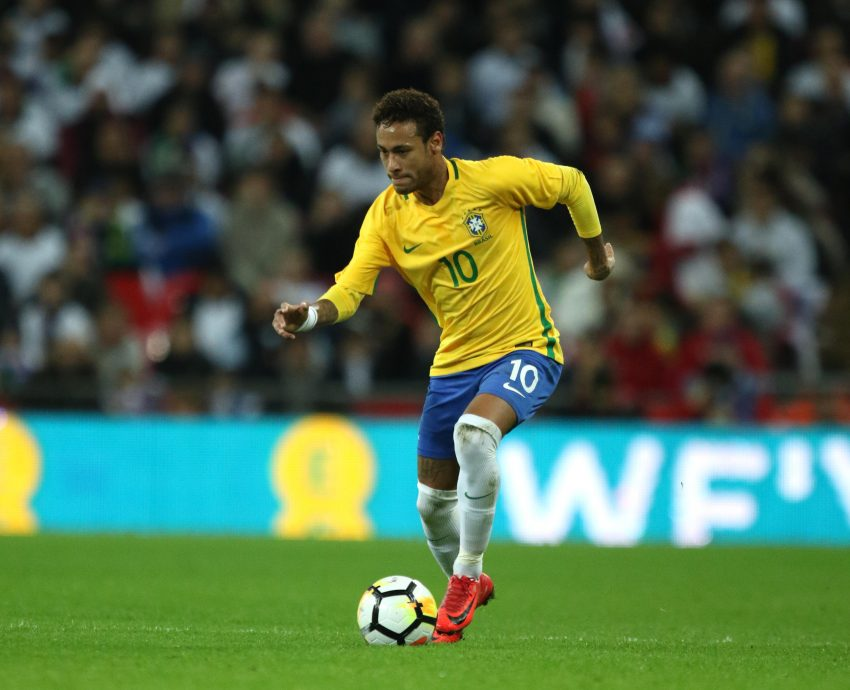 Neymar Jr (Brazil) at the England v Brazil international friendly match at Wembley Stadium, London, on November 14, 2017.** This picture is for editorial use only**