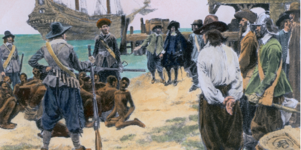 Painting of 20 Slaves Jamestown