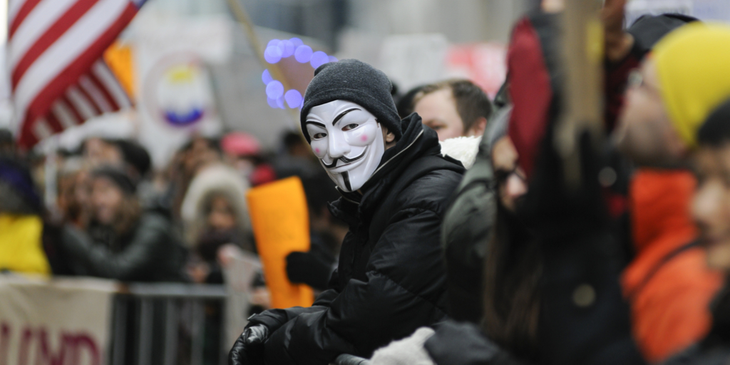 Protest Guy Fawkes