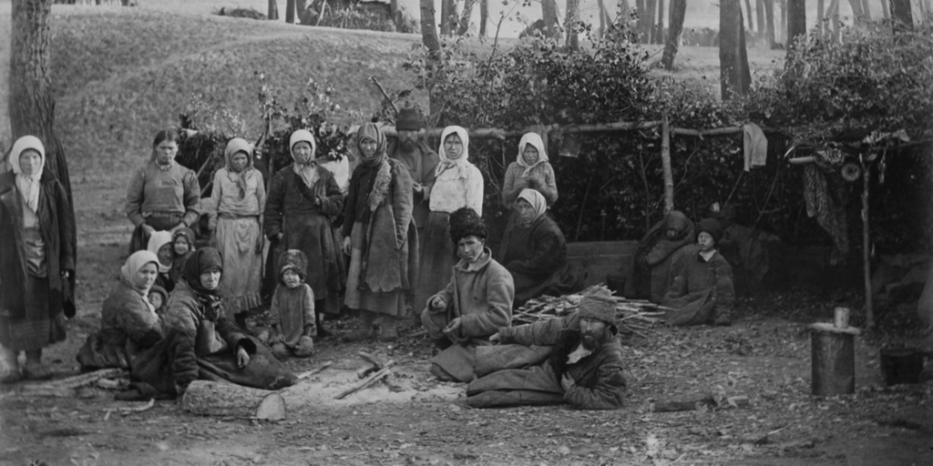Starving Russian Peasants 1918