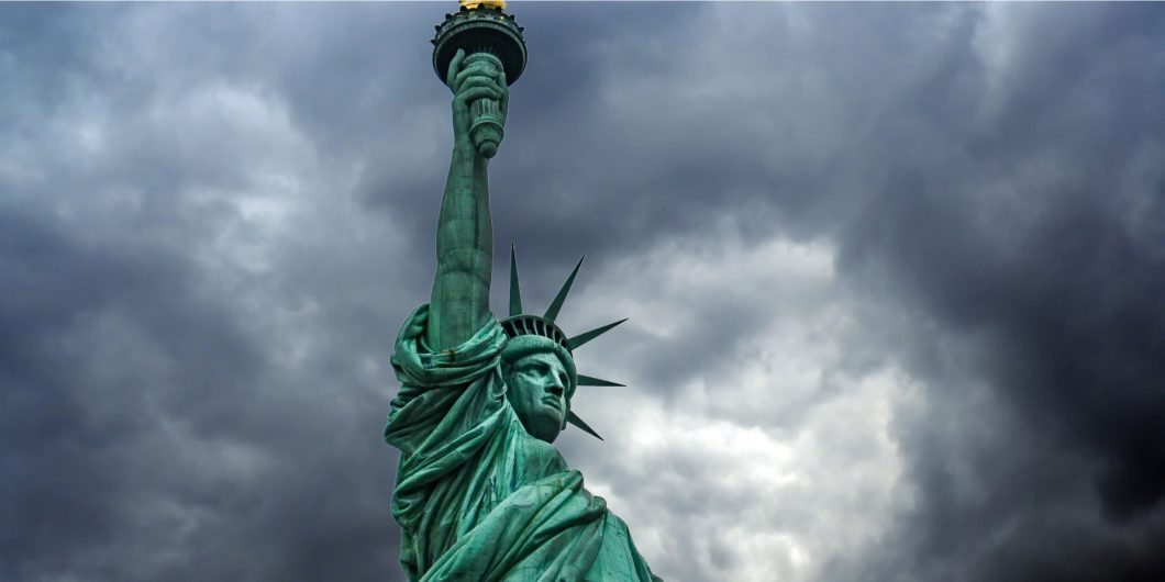 Storm over Statue of Liberty