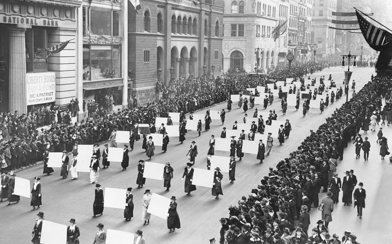 Women's Suffrage Parade, 1917