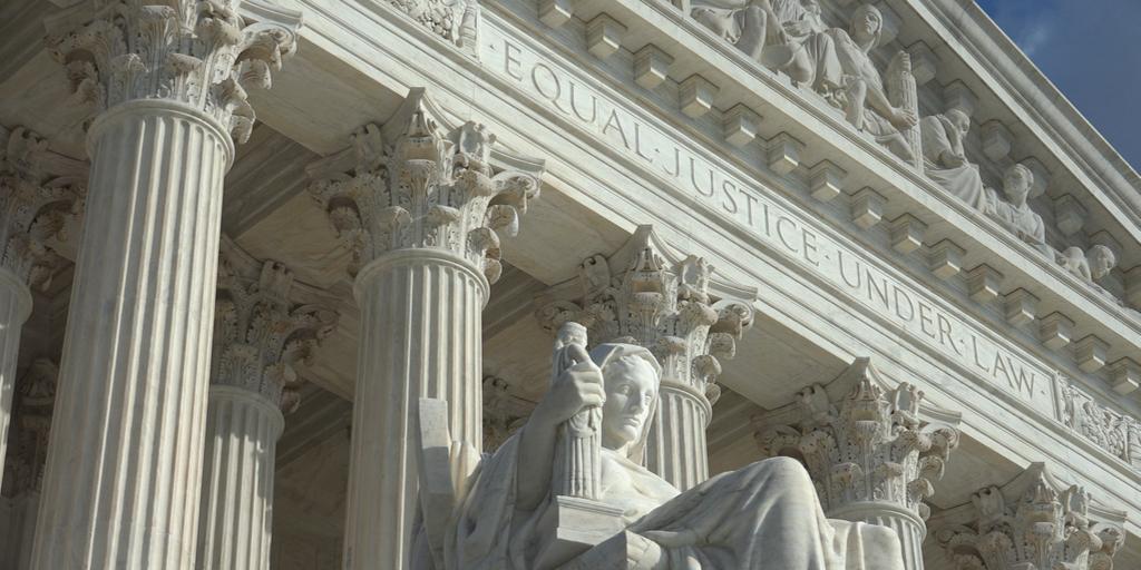 Supreme Court Angle Statue