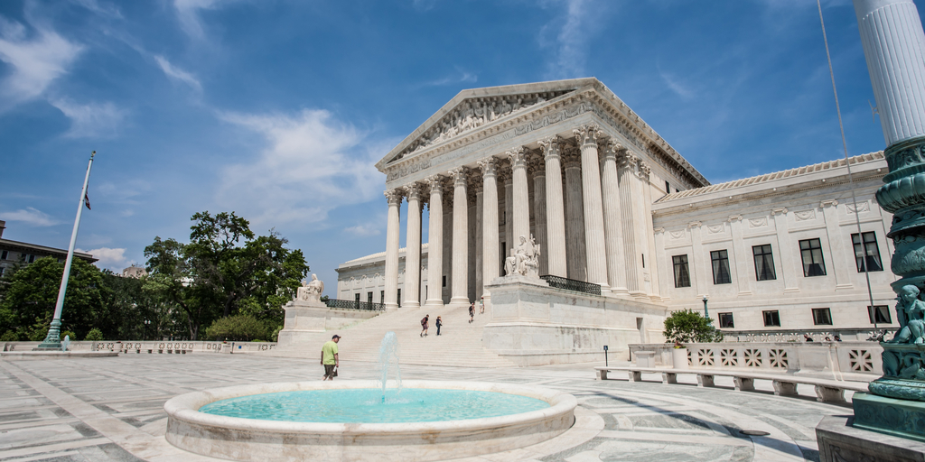 Supreme Court with fountain