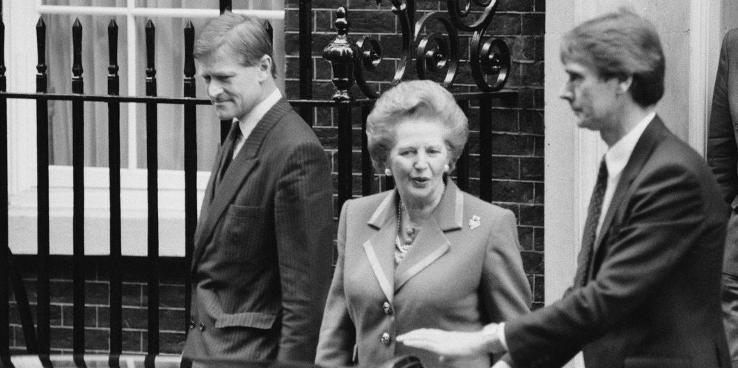 Thatcher Departs