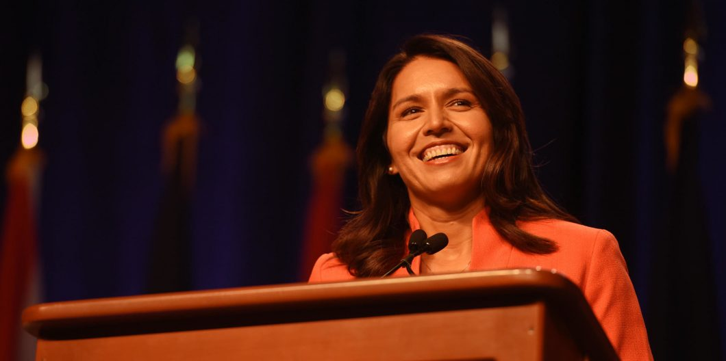 U.S. Rep. Tulsi Gabbard of Hawaii addresses the National Guard Association of the United States 138th General Conference, Baltimore, Md., Sept. 12, 2016. (U.S. Army National Guard photo by Sgt. 1st Class Jim Greenhill)