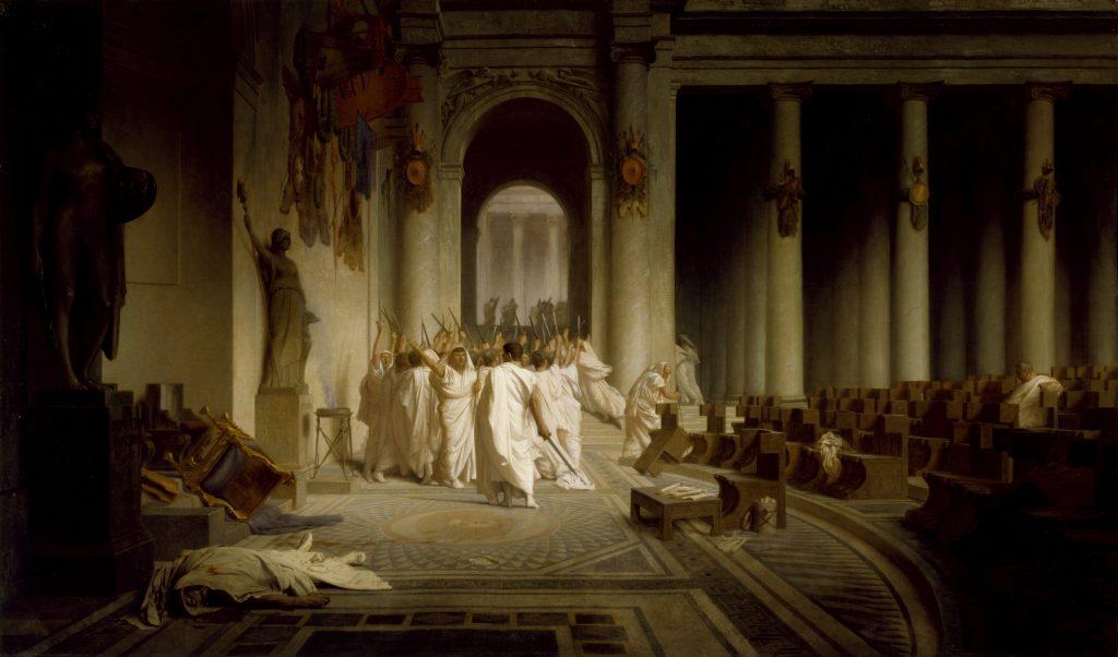 La Mort de César (ca. 1859–1867) by Jean-Léon Gérôme.