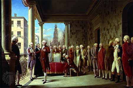 George Washington delivering his Farewell Address