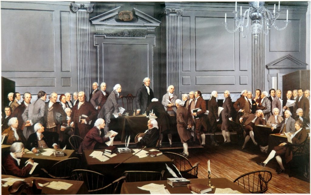 Signing of the Constitution by Louis Glanzman
