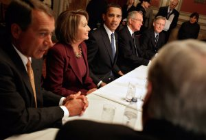 Obama Meets With Congressional Leaders, Economic Advisors In DC