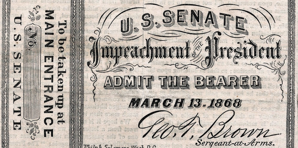 johnson impeachment ticket