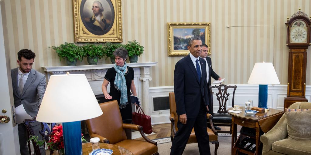 obama at work